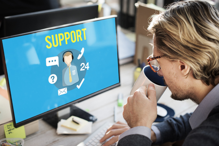 Man with customer support concept Stockfoto