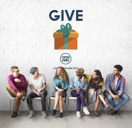 generosidad: Give Donate Generosity Giving Support Help Concept Foto de archivo