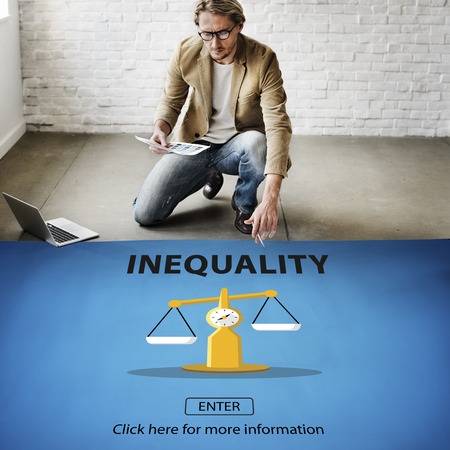 inequality: Inequality Imbalance Victims Prejudice Bias Concept