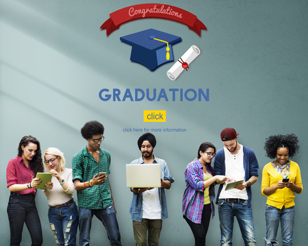 mortar board: Graduation Congratulation Celebration Certificate Mortar Board Concept Stock Photo