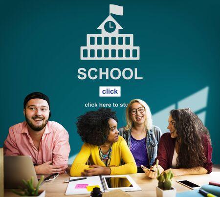 jovenes estudiantes: Educación Escuela conocimiento de la sabiduría aprender el concepto