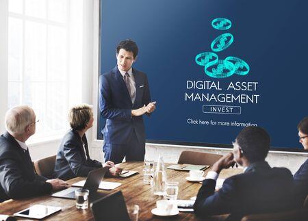 digital asset management: Digital Asset Management Data Information Concept