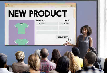 New Product Launch Promotion Marketing Services Concept