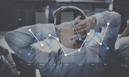 Line Graph Business Data Anaysis concept Banco de Imagens