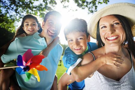 parenting: Family Bonding Cheerful Children Parenting Love Concept