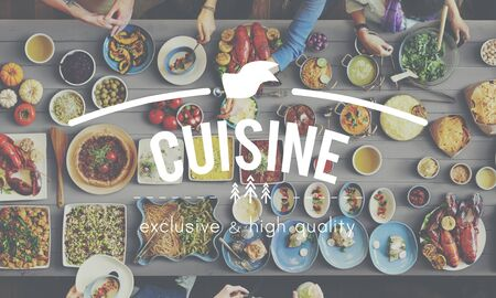 kulinarne: Cuisine Culinary Catering Buffet Meal Concept