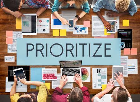 emphasize: Prioritize Emphasize Efficiency Important Task Concept
