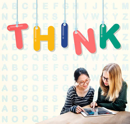 visionary: Think Thoughtful Visionary Creative Determination Concept Stock Photo