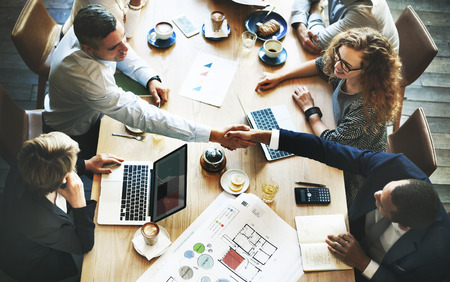 Business People Meeting Discussion Corporate Handshake Concept Standard-Bild