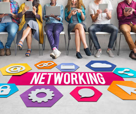 diversity domain: Networking Online Technology Graphic Concept Stock Photo
