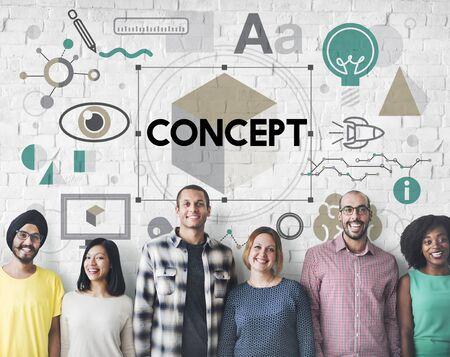 percepción: Concepto Plan de Percepción Noción Imagen creativa Intención Foto de archivo