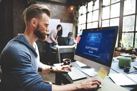 web application: Software Data Digital Programs System Technology Concept