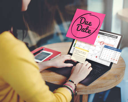 due date: Due Date Appointment Day Event Important Concept