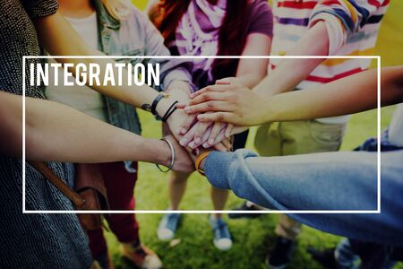 to incorporate: Integration Blend Together Incorporate Concept Stock Photo