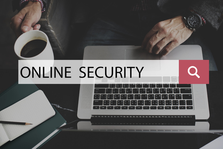 online privacy: Online Security System Privacy Protection Technology Concept