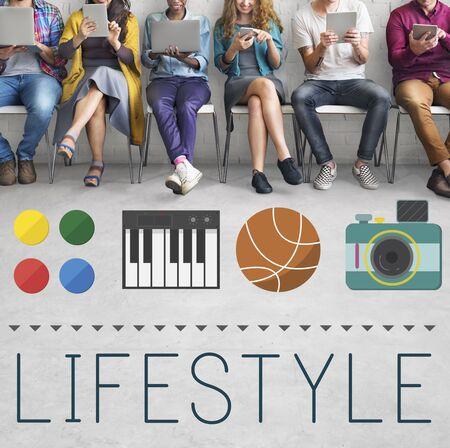 interests: Lifestyle Culture Habits Hobbies Interests Life Concept