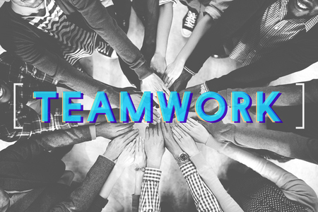 team hands: Teamwork Agreement Alliance Collaboration Unity Concept
