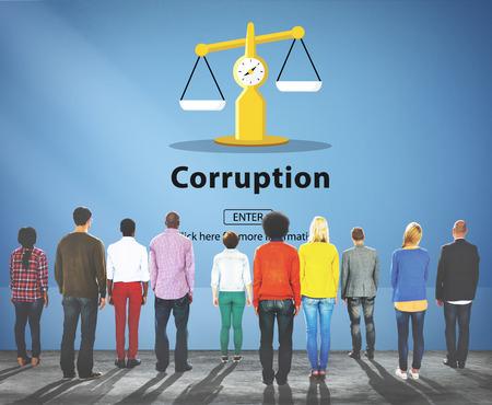 remuneraci�n: Corruption Bribe Cheat Illegal Money Finance Concept