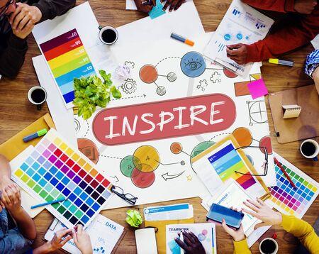 work table: Inspire Aspiration Expectation Goal Hopeful Concept