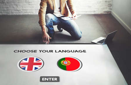 Protugal English Communication Language Concept Reklamní fotografie