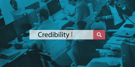 believable: Credibility Believable Information Inspiration Concept Stock Photo