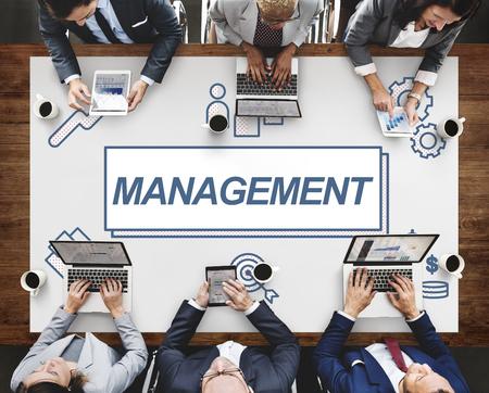 coordinacion: Management Business Leader Coordination Graphic Concept