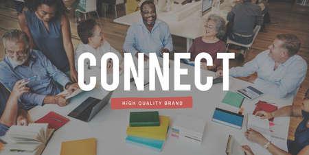 socialize: Communicate Conversation Connection Socialize People Concept