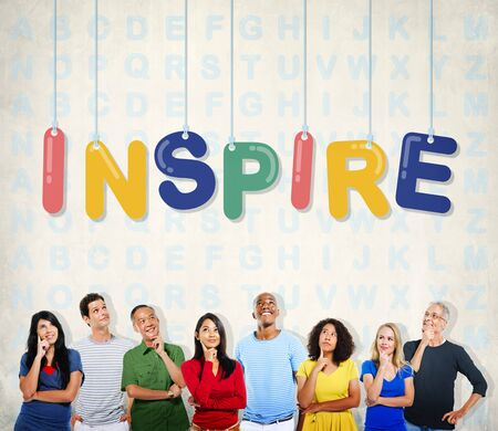creer: Esperanzado inspirar creen aspiración Visión Innovar Concept