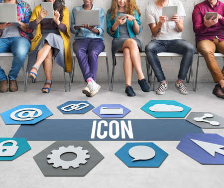 diversity domain: Icon Network Technology Graphic Concept