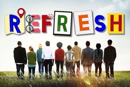 renew: Refresh Restart Renew Revive Vitalize Concept
