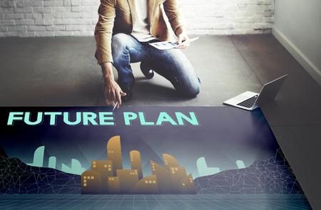 urban planning: Furutistic Future Plan Urban Structure Concept Stock Photo
