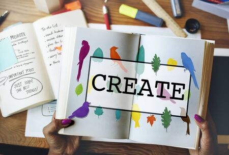 creativity: Create Creative Creativity Ideas Design Concept