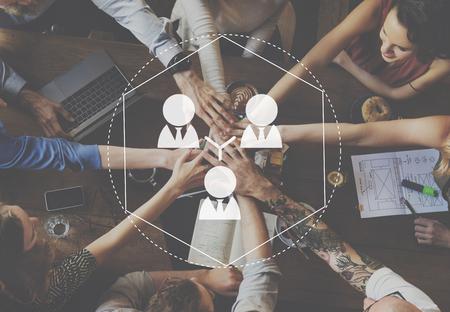 Conexión de la gente de Busines Redes concepto conecte Foto de archivo