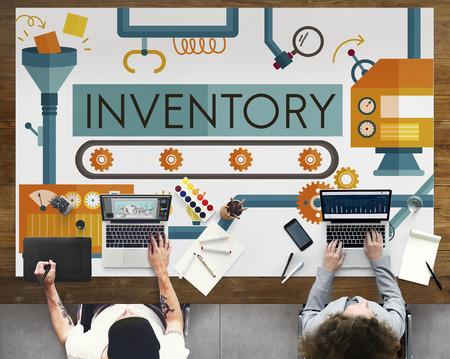 Inventaire Stock Actifs Fabrication marchandises Concept Banque d'images - 59156260