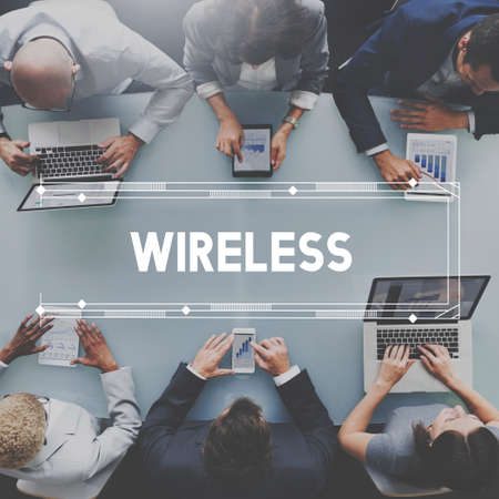 wireless network: Wireless Network Technology Graphic Concept