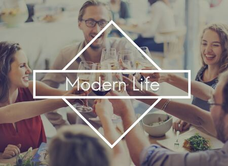 modern life: Live Your Life Freedom Modern Life Young and Free Concept