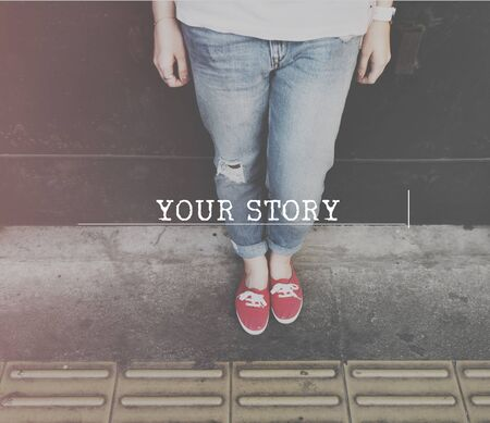 the moments: Yor Story Life Moments Memory Concept Stock Photo