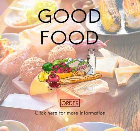buen vivir: Buen concepto de restauraci�n del estado de �nimo de Alimentos vida saludable Nutrici�n