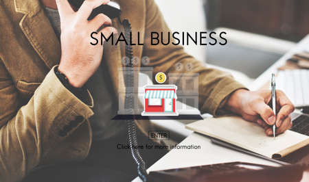 small business office: Small Business Niche Market Products Ownership Entrepreneur Concept