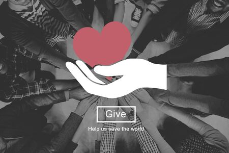black empowerment: Heart Love Giving Charity Donate Concept