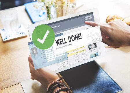 well done: Successful Well Done Accomplishment Achievement Excellence Concept