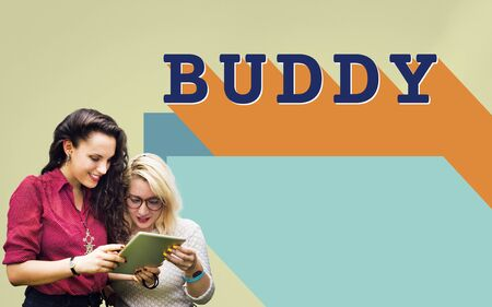Buddy Friends Together Connection Companionship Concept Stock Photo
