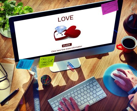 engagement ring: Love Engagement Ring Couple Love Concept Stock Photo