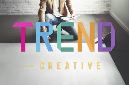 business trending: Trend Trending Trendy Fashion Forecast Design Concept Stock Photo