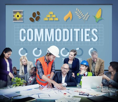 commodities: Commodities Demand Distribution Economy Concept
