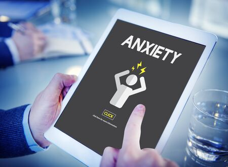 angst: Anxiety Angst Disorder Stress Tension Concept Stock Photo