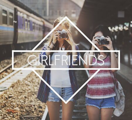 girlfriends: Girlfriends Friend Woman Lady Concept Stock Photo