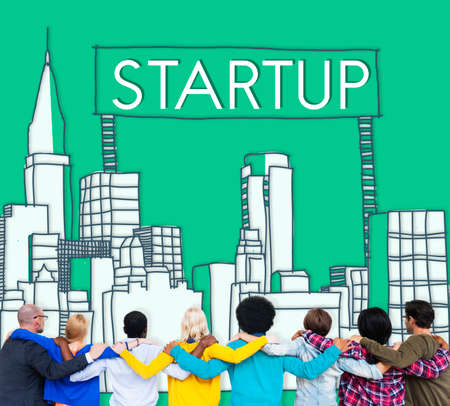 Startup New Business Vision Strategy Launch Concept