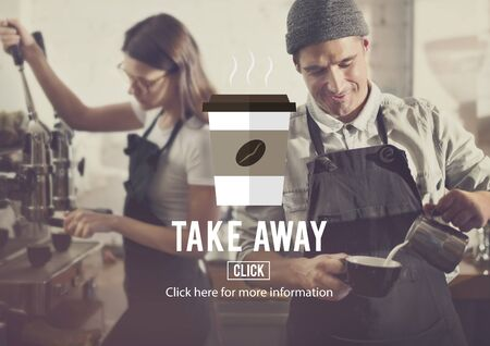 Take Away To Go Coffee Caffeine Concept Stock Photo