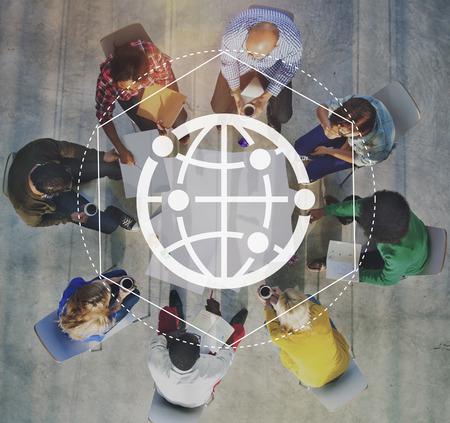 ネットワーク通信ネット グラフィック概念の相互作用